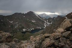 Mount Bierstadt in Clouds Stock Photos