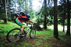 Mount bike man outdoor Stock Image
