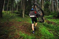 Mount bike man outdoor Stock Photo