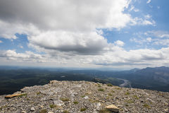Mount Black Rock. Hiking vista from  Mount Black Rock Fire lookout, Kananaskis Country Alberta Canada Stock Photo