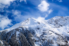 The Mount Blanc in Chamonix, France Stock Image