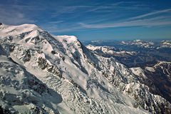 Mount blanc massif Royalty Free Stock Images