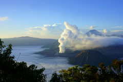 Mount Bromo, Active volcano in East Java, Indonesia. Mount Bromo, an active volcano and part of the Tengger Semeru National Park in East Java, Indonesia Stock Images