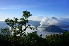 Mount Bromo, an active volcano in East Java, Indonesia. Mount Bromo, an active volcano and part of the Tengger Semeru National Park in East Java, Indonesia Stock Images