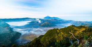 Mount Bromo is an active vulcano and part of the Tengger massif, in East Java, Indonesia. Mount Bromo part of the Tengger massif, in East Java, Indonesia stock images