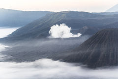 Mount Bromo area with clouds Stock Images