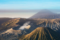 Mount Bromo blue sky day time nature landscape background. Java, Indonesia Stock Photo