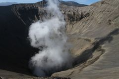 Mount Bromo crater Indonesia Royalty Free Stock Images