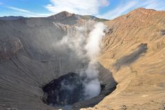 Mount bromo crater Royalty Free Stock Photos
