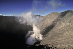 Mount Bromo crater. The crater of mount bromo smoking Royalty Free Stock Photo