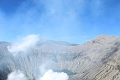 MOUNT BROMO CRATER royalty free stock photography