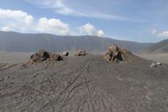 Mount bromo desert view Royalty Free Stock Photo