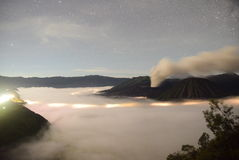 Mount bromo during eruption Stock Image