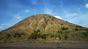 Mount Bromo in Indonesia. BROMO, INDONESIA - 2ND MARCH 2014; Unidentified tourists visit at Mount Bromo on June 22, 2015 in Java, Indonesia. Mount Bromo is one Stock Photography