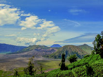 Mount Bromo, Indonesia. Under a cloudy sky Stock Photos