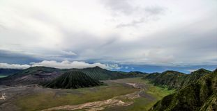 Mount Bromo, Java, Indonesia. Day view Mount Bromo, Java, Indonesia Royalty Free Stock Image