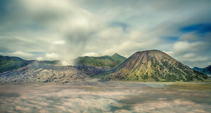 Mount Bromo. Landscape of Mount Bromo, Java, Indonesia royalty free stock image