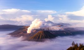 Mount Bromo located in Bromo Tengger Semeru National Park, East Java, Indonesia.  Royalty Free Stock Photo