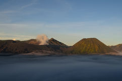 Mount Bromo and Mount Batok Royalty Free Stock Image