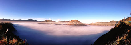 Mount Bromo , Mount Batuk and Mount Semeru at Bromo indonesia Royalty Free Stock Image