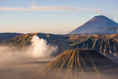 Mount Bromo, Mt Batok and Semeru in Java, Indonesia. Royalty Free Stock Images