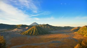 Mount Bromo and Semeru, Java Stock Photo