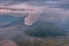 Mount Bromo volcano & x28;Gunung Bromo& x29; in Bromo Tengger Semeru Natio Stock Photography