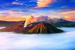 Mount Bromo volcano Gunung Bromo. In Bromo Tengger Semeru National Park, East Java, Indonesia stock photography