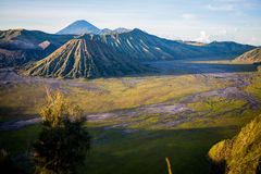 Mount Bromo volcano, Indonesia. Mount Bromo is an active volcano, Indonesia stock photo