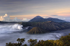 Mount Bromo volcano at sunrise Stock Photography