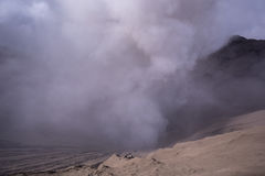 Mount Bromo volcano sunrise in East Java, Indonesia. Royalty Free Stock Photography