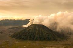 Mount Bromo volcano sunrise in East Java, Indonesia. Royalty Free Stock Image