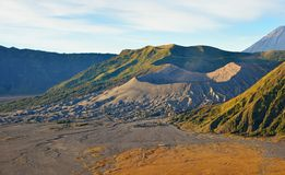Mount Bromo volcano at sunrise in Java Stock Photo