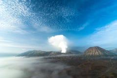 Mount Bromo volcanoes. Java, Indonesia Stock Images