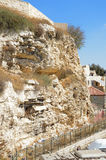 Mount Calvary in Jerusalem stock image