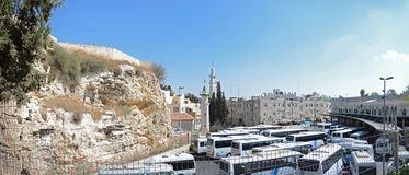 Mount Calvary in Jerusalem royalty free stock photo