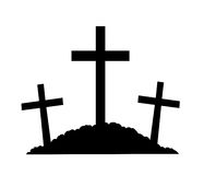 Mount Calvary Silhouette. A silhouette of the crosses on Calvary Royalty Free Stock Photo