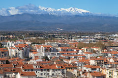 Mount Canigou from Perpignan Stock Image