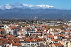 Mount Canigou from Perpignan Stock Image