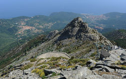 Mount Capanne on Elba island Royalty Free Stock Images