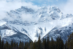 Mount Cascade. Near Banff in the Canadian Rockies Stock Images