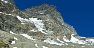 Mount Cervino, Valtournenche - Aosta Valley. Matterhorn seen from the refuge Duke of Abruzzi stock photo