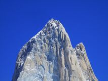 Mount Chalten or Fitz Roy Close-Up, Santa Cruz Argentina royalty free stock image