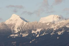 Mount Cheam Chilliwack BC. Mount Cheam in the cascade mountain range - Chilliwack, BC Royalty Free Stock Photography