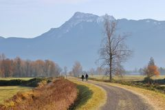 Southern British Columbia Rural Landscape stock image