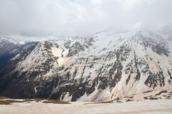 Mount Cheget after a sandstorm. North Caucasus, Russia royalty free stock photography
