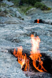 Mount Chimera, eternal flames in ancient Lycia, Turkey Royalty Free Stock Photo