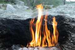 Mount Chimera - natural fire Stock Photography