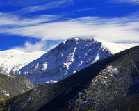 Mount Chiquita in  Rocky Mountain National Park. Snow capped Mount Chiquita in late spring after big snowstorm Stock Photography