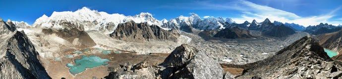 Mount Cho Oyu, Nepal himalayas mountains panorama royalty free stock image
